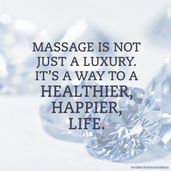massage is not just a luxury